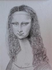 Mona Lisa à la façon de Modigliani.