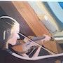 Au grenier peinture a l'huile sur toile de Lucien Prost. Prost's Art