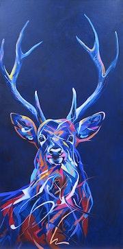 Le cerf en couleurs. Régine Guthmann