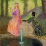 Pelleas et Mélisande. D'après l'oeuvre de E. Blair Leighton. Ghislaine Phelut