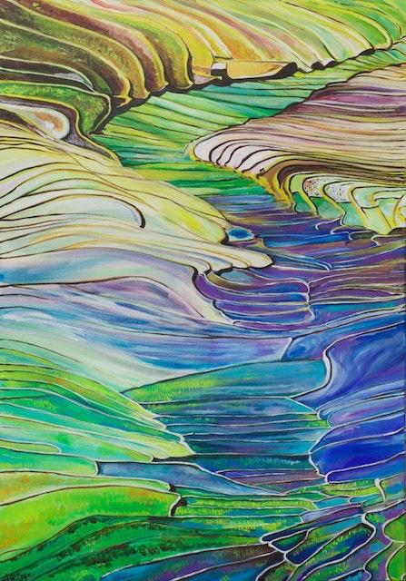Rice terraces. Aurélie Philippe Lily In Wonderland