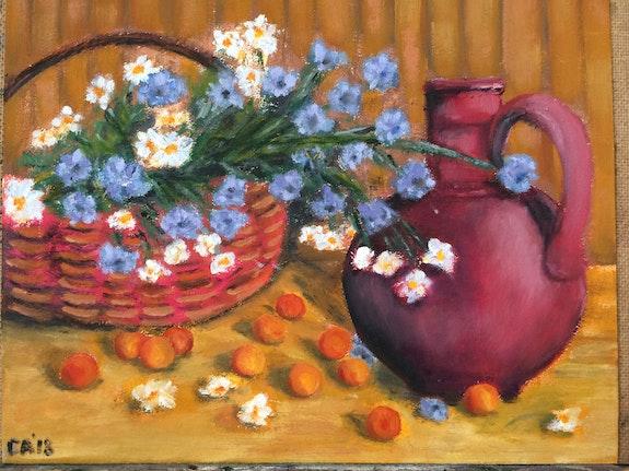 Cherries and flowers. Saule Abdramanova Saule Abdramanova