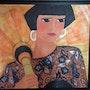 Di Bruggio - Femme à l'ombrelle chinoise