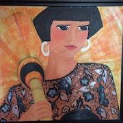 Femme à l'ombrelle chinoise. Di Bruggio