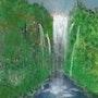 Wasserfall im Dschungel. Juste