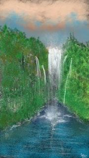 Waterfall In The Jungle.