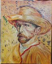 Autoportrait au chapeau de paille.