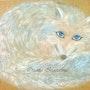 Peinture acrylique «Le renard polaire». Oxana Mustafina