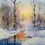 Riachuelo de invierno. Victor Kovalev
