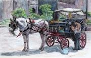 La carrozzella. Arte Italiana