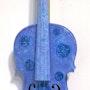 Violon «Hortensia» 4/4 décoré à l'acrylique. Oxana Mustafina