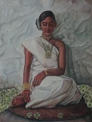 Embellished Indian Tribal Woman. Ramyasadasivams Art Gallery