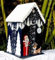 Christmas * Christmas * Advent calendar * Wood * Snow roof * House * Ref: 112.