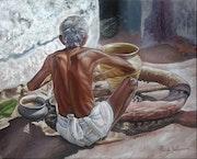 Man Making Pot. Ramyasadasivams Art Gallery