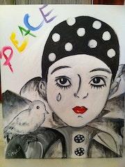Peace : Peinture acrylique 40x50.