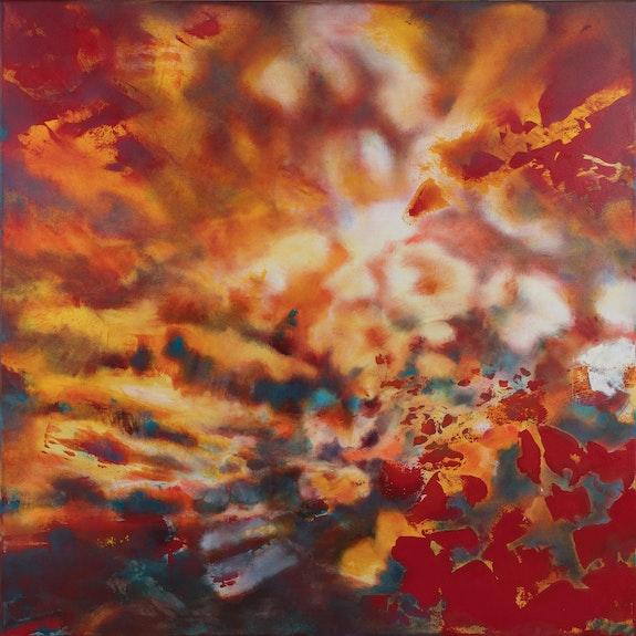 Triptyque «chi» - peinture réalisée sur mesure 120x120cm x3 partie centrale. Caroline Morcillo Caroline Morcillo