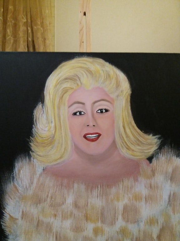 Portrait d une blonde.  Ilham Balarh