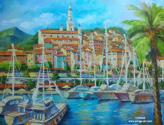 French riviera- city of Monton marina.  Yorige Geo