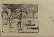 Seurat ? En piste : les athlètes acrobates. Étude sur le cirque 3/4.. Historien d'art, Archéologue; Chercheur Free-L.