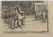 Seurat ? En piste : la danseuse acrobate au cheval. Étude sur le cirque 4/4.. Historien d'art, Archéologue; Chercheur Free-L.