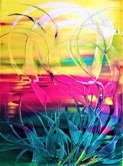 «Solis occasum 2» 80x60x2cm Acrylique sur toile.