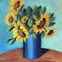 Vase de tournesol. Andre Blanc