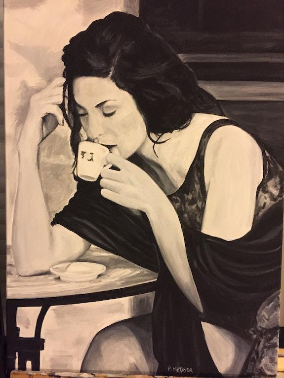 La buveuse de café n°19. Philippe Metayer Philippe Metayer