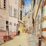 Rue des Orfèvres à Moulins. Dominique Frere