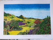 Imaginary art with colored gel ink pens tuzoo. Shahbaaz Baurtally