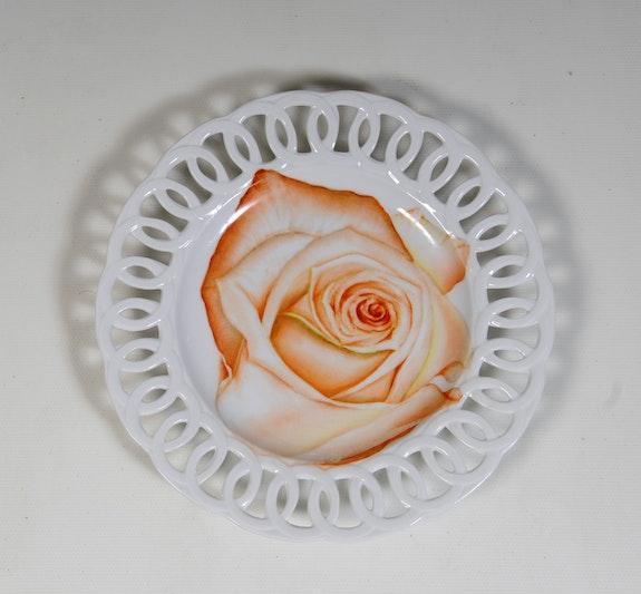 Rose Orangée Ouverte - Collection «Bouquet de Roses».  K-Zi-Yak