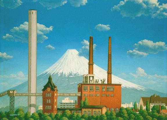 Mt. Fujisan, view from Offenbach-Kaiserlei. Horst Bernd Baerenz-Cao Illustration & Illusion