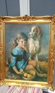Fille avec chien. Jose Rodriguez Bernal