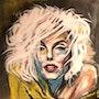 Portrait peinture acrylique maryline 1. Db