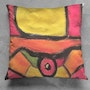 Cell Phone » throw pillow. Eleanor Wolper