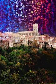 Village de Montolieu dans l'Aude.
