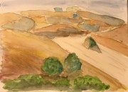 Tuscan fields in the fall. John Macarthur