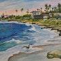 View of La Jolla. Arte Italiana