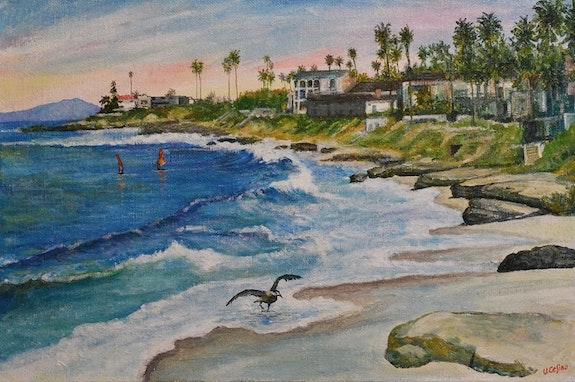 View of La Jolla. Umberto Cesino Arte Italiana