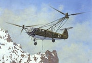 Helicopter Focke Achgelis Fa 223 Drache. Illustration & Illusion