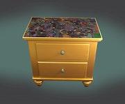 Mosaic nightstand.