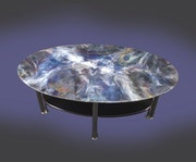 Shimmering coffee table.
