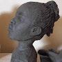 Sculpture-Portrait «Je viens de Guinée». Françoise Faucher-Moreau