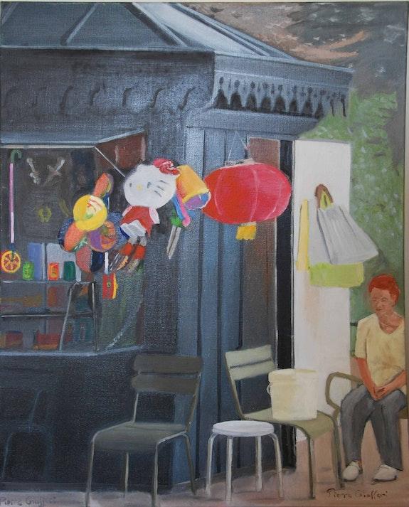 Le kiosque au jardin du luxembourg. Cesar Luciano Pierre Giafferi Alias Cesar Luciano