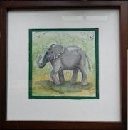 L'éléphant heureux.