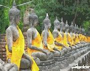 Les statuts bouddhistes pour prier.