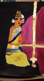 Femme apsaras a la danse traditionnelle.