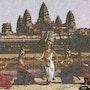 Le temple d'angkor wat avec les danseuses apsaras du cambodge. Sothatang78