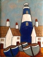 Le phare. Martine Levillain