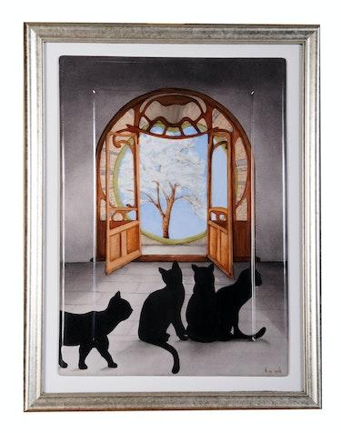 Porte Art Nouveau / Collection: Ouverture sur le monde. K. Zi. Yak