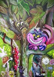 N° 428 - Le chat D'Alice (au pays des merveilles).